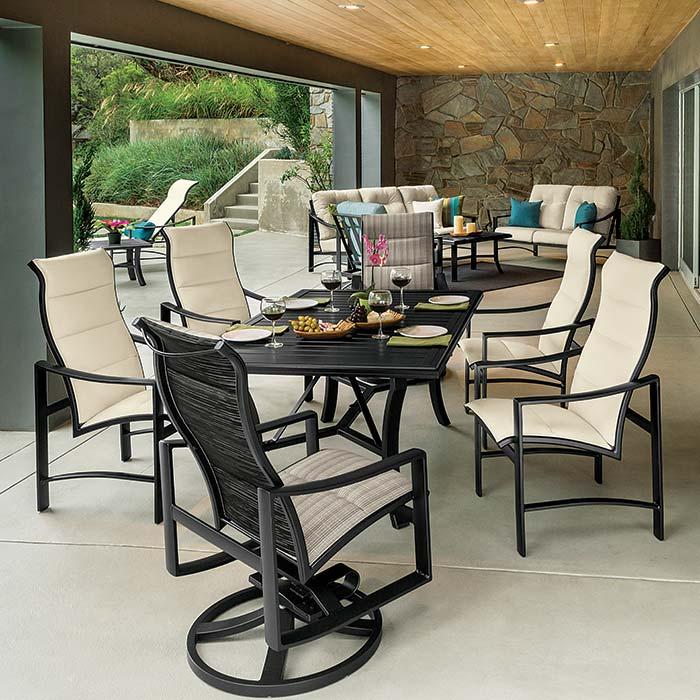 Tropitone Patio Furniture: Aluminum Sling Patio Furniture