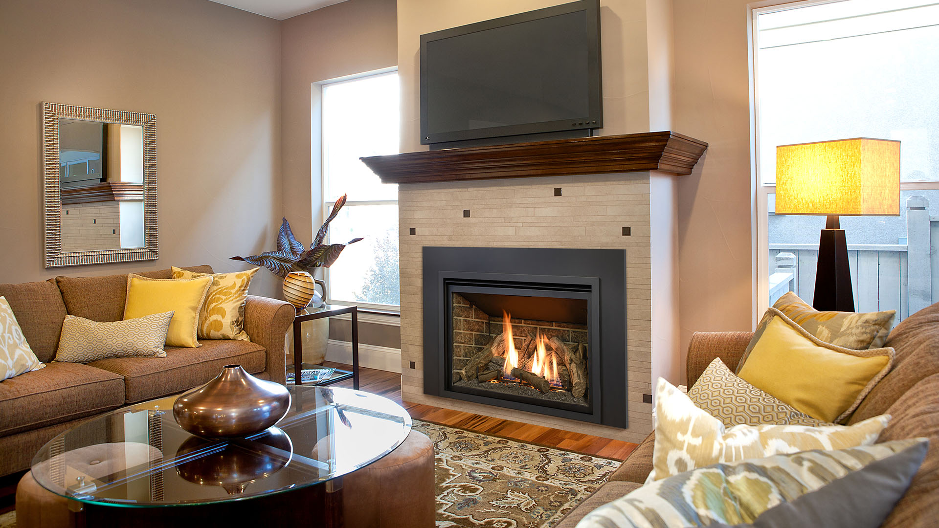 Gas Fireplaces and Hearths in Okemos, MI | Heat'N Sweep