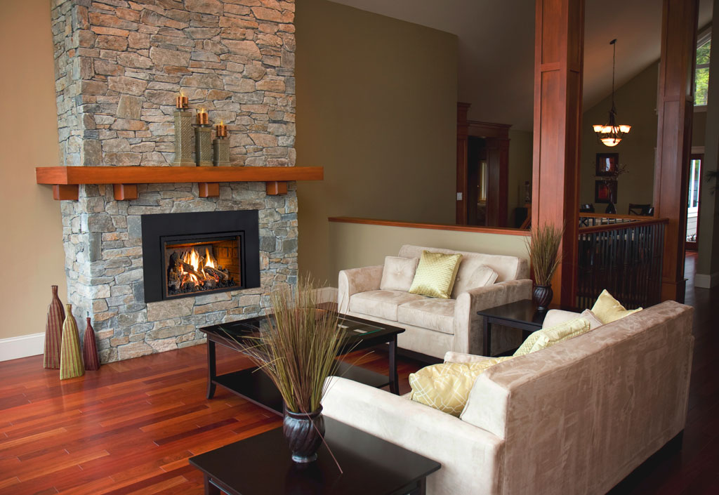 With an energy efficient Mendota gas fireplace insert