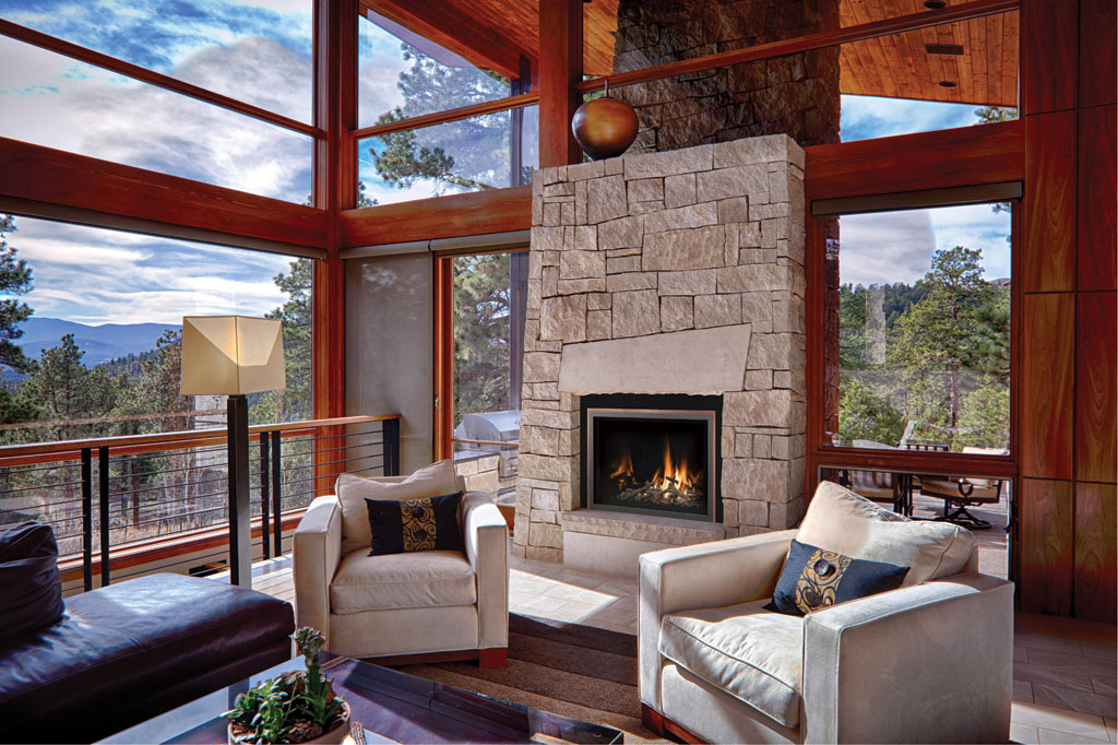 Energy Efficient Gas Fireplace Inserts Part - 33: With An Energy Efficient Mendota Gas Fireplace Insert, You Can Turn Down  The Thermostat And Let The Award-winning Log Fire Heat The Main Living  Space.