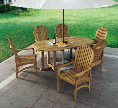 adirondack dining room table chairs bates chair oval furniture