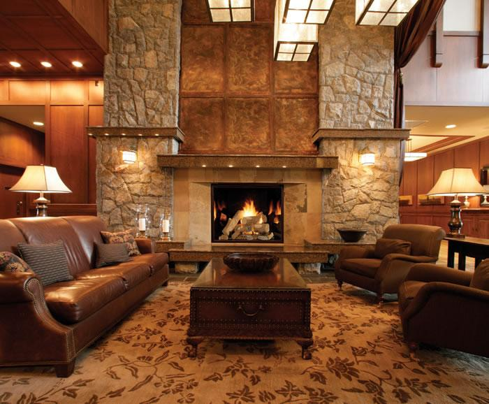 The Town and Country gas fireplace 54 dares to go into great rooms and  commercial settings ...