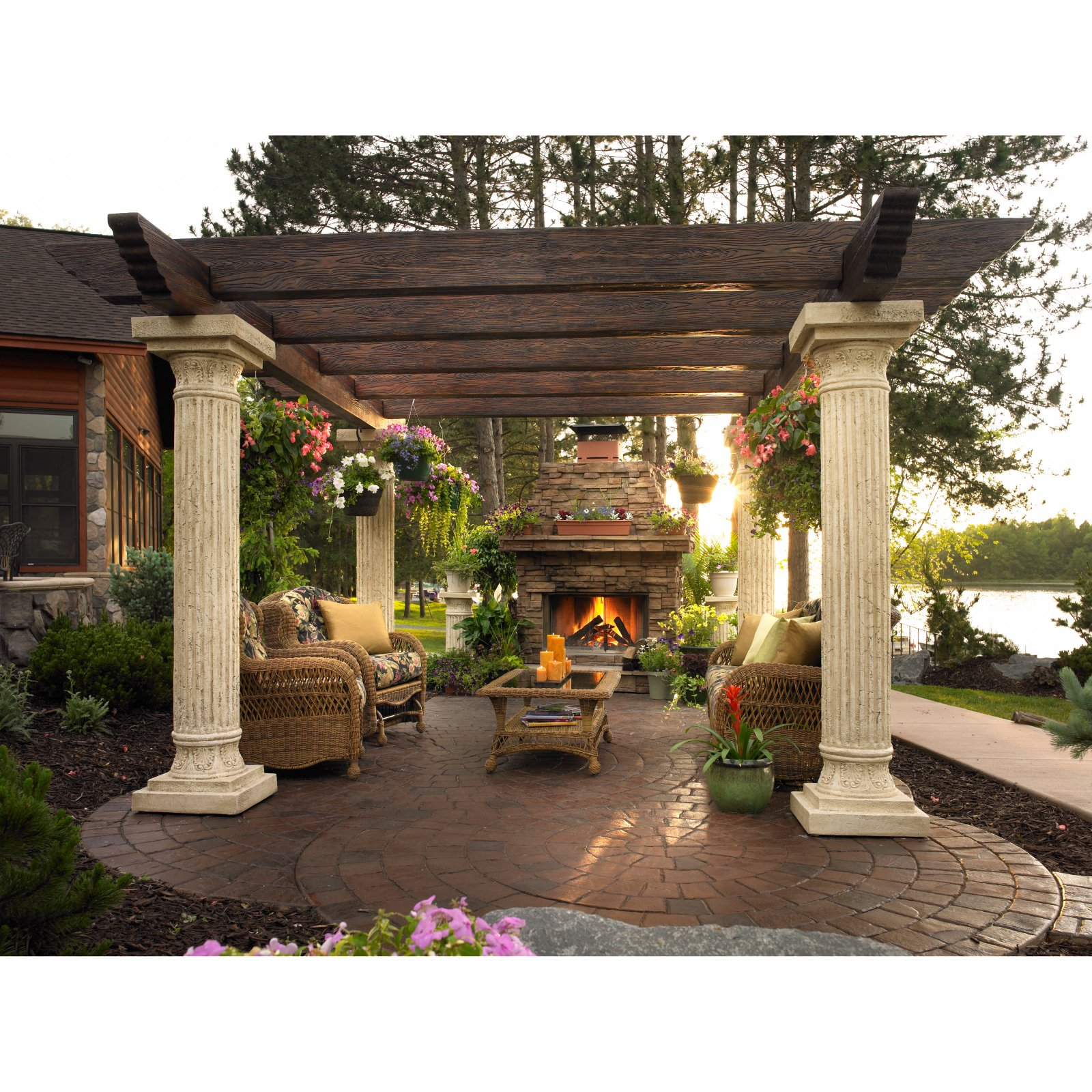 Tuscan Backyard Decor : Hot Tubs  Hot Tubs, Fireplaces, Patio Furniture  Heat N Sweep