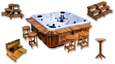 Image result for hot tub cedar accessories