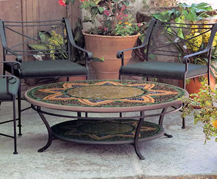 Artistic Round Glass Mosaic Tables Like The Santa Fe Brighten Up Any Room  Or Patio. Embellish Your Home Inside Or Out With Intricately Designed Glass  Mosaic ...