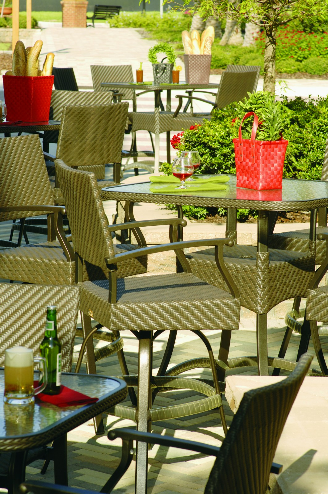 florence patio furniture high dining group