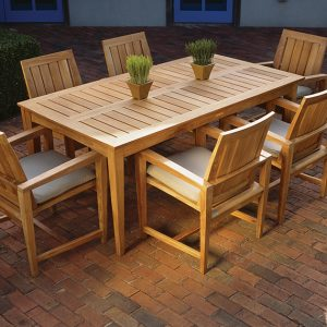 Westbrook Teak Patio Dining Set Teak Patio Furniture In Okemos Mi