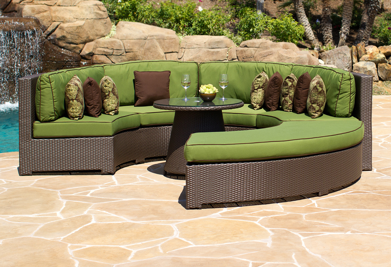 Curved Wicker Outdoor Sectional Lansing MI