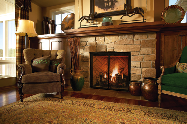Gas fireplaces and hearths in okemos mi heat 39 n sweep Fireplace ideas no fire