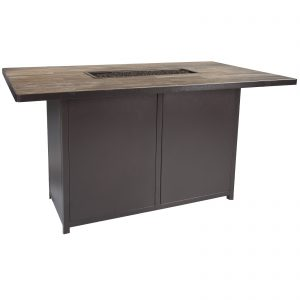 Counter height fire table bar height fire table in okemos mi this 42 x 72 bar height fire table has a 38 table height and is perfect for counter stools for a unique and comfortable dining experience with the watchthetrailerfo